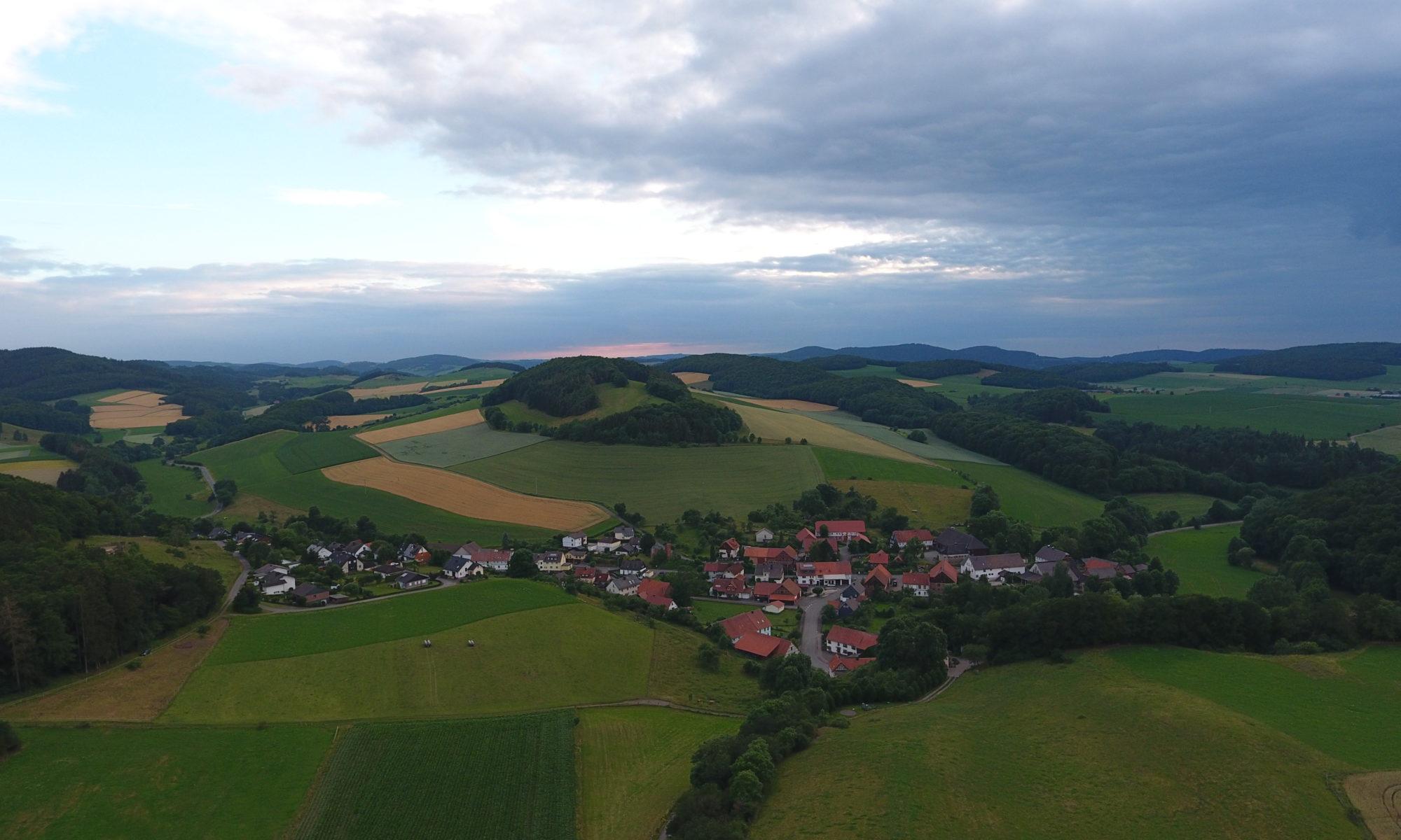 Luftbild von Benkhausen