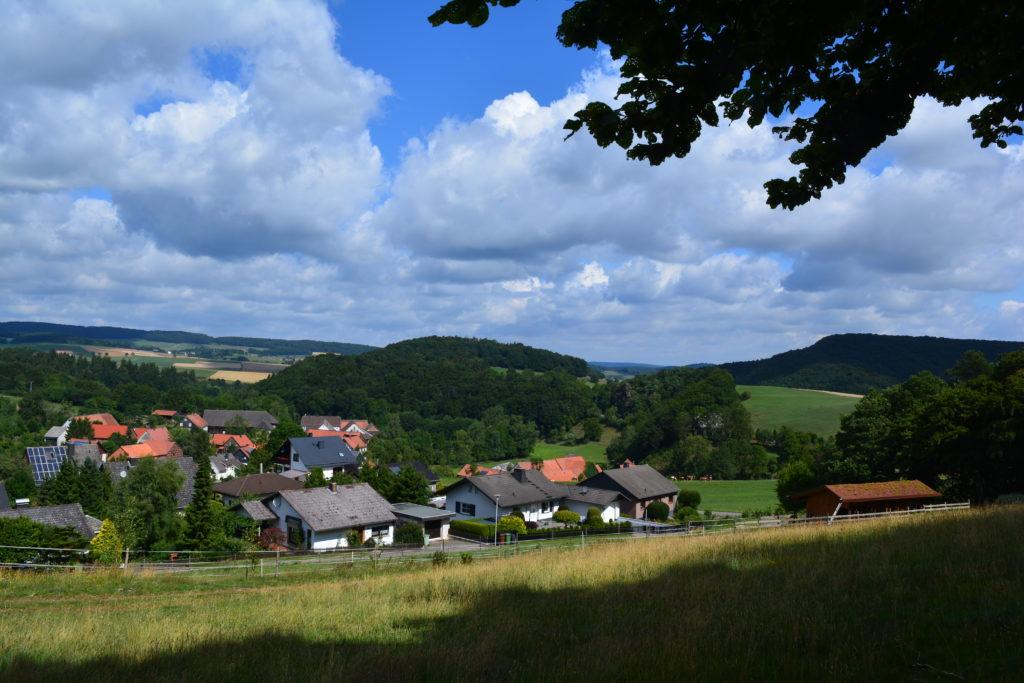 Blick vom Hiddelk Benkhausen